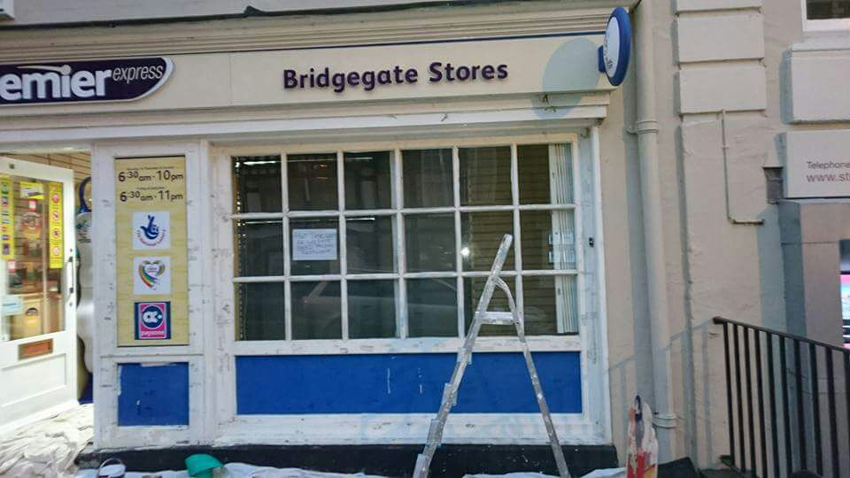 Before shot of Commercial Painting of an Newsagents